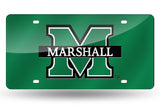 NCAA Marshall Thundering Herd Laser License Plate Tag - Green