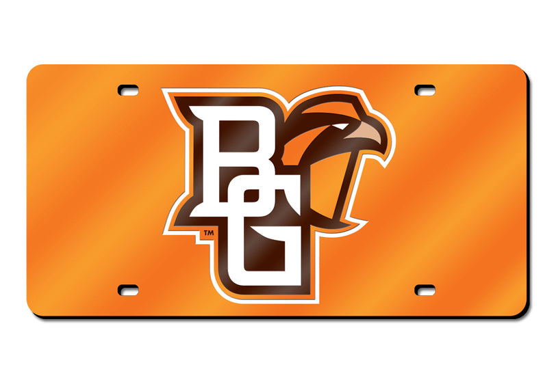 NCAA Bowling Green St. Falcons Laser License Plate Tag - Orange