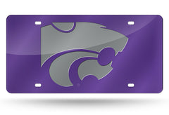 NCAA Kansas State Wildcats Laser License Plate Tag - Purple