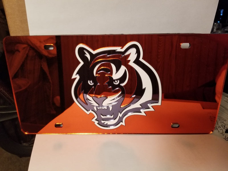 NFL Cincinnati Bengals Laser License Plate Tag - Orange