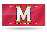 NCAA Maryland Terrapins Laser License Plate Tag - Red