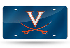 NCAA Virginia Cavaliers Laser License Plate Tag - Blue