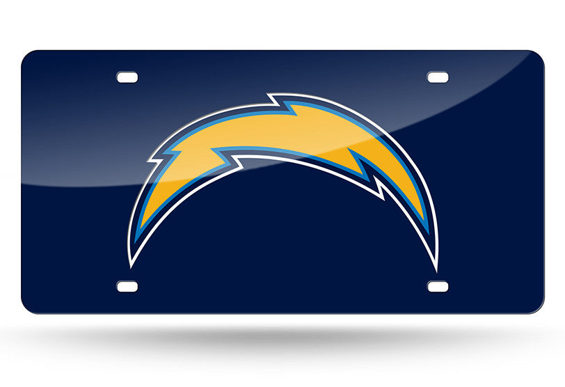 NFL Los Angeles Chargers Laser License Plate Tag - Blue