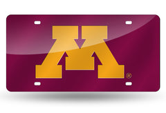 NCAA Minnesota Golden Gophers Laser License Plate Tag - Red