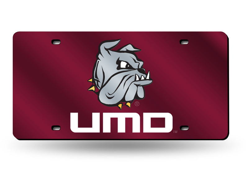NCAA Minnesota Duluth Bulldogs Laser License Plate Tag - Red