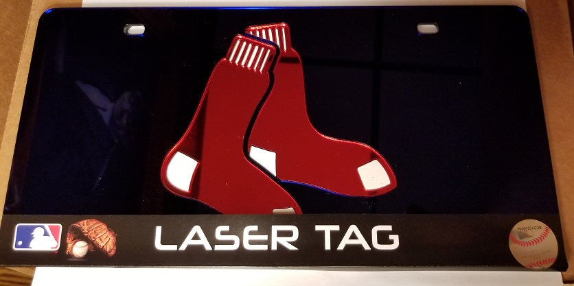 MLB Boston Red Sox Laser License Plate Tag - Blue