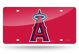 MLB Los Angeles Angels Laser License Plate Tag - Red