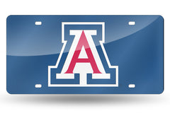 NCAA Arizona Wildcats Laser License Plate Tag - Blue