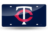 MLB Minnesota Twins Laser License Plate Tag - Navy