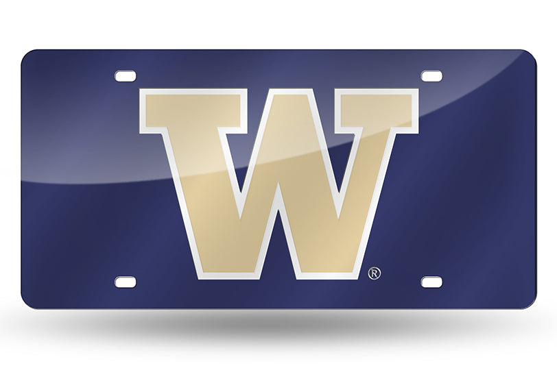 NCAA Washington Huskies Laser License Plate Tag - Purple