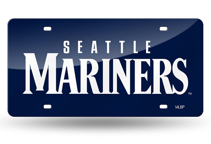MLB Seattle Mariners Laser License Plate Tag - Blue