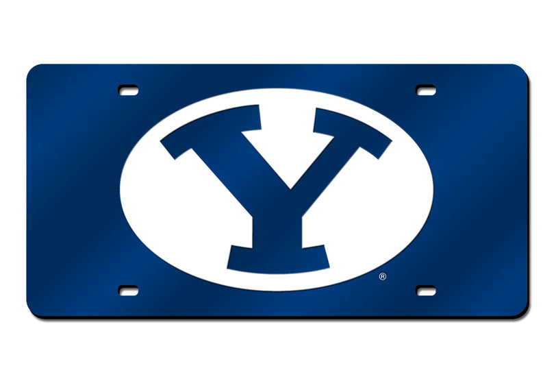 NCAA BYU Cougars Laser License Plate Tag - Blue