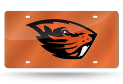 NCAA Oregon State Beavers Laser License Plate Tag - Orange