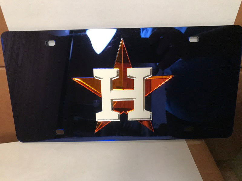 MLB Houston Astros Laser License Plate Tag - Navy