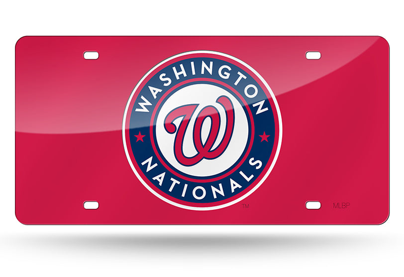 MLB Washington Nationals Laser License Plate Tag - Red