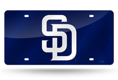 MLB San Diego Padres Laser License Plate Tag - Navy