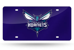 NBA Charlotte Hornets Laser License Plate Tag - Purple