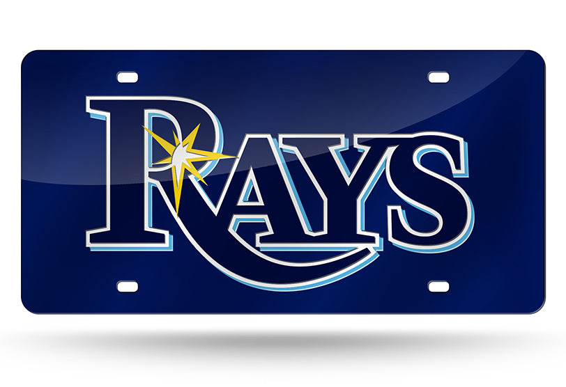 MLB Tampa Bay Rays Laser License Plate Tag - Navy