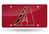 "MLB Arizona Diamondbacks ""A"" Laser License Plate Tag - Red"