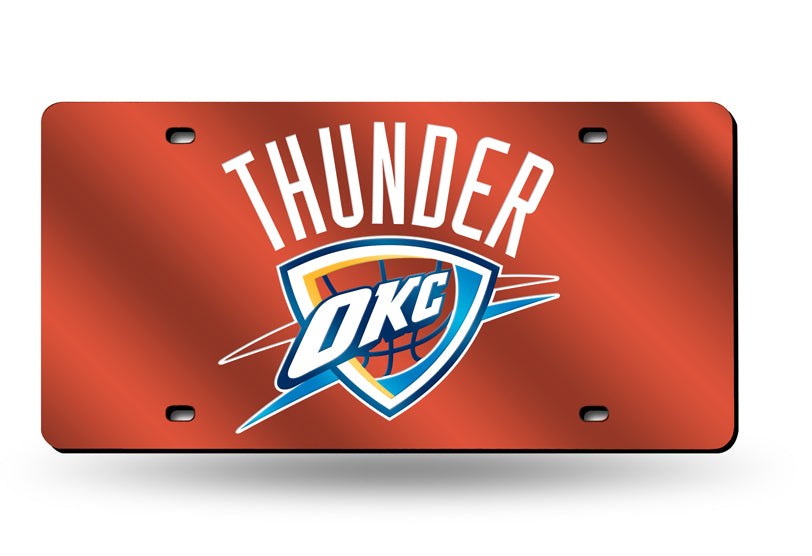 NBA Oklahoma City Thunder Laser License Plate Tag - Orange
