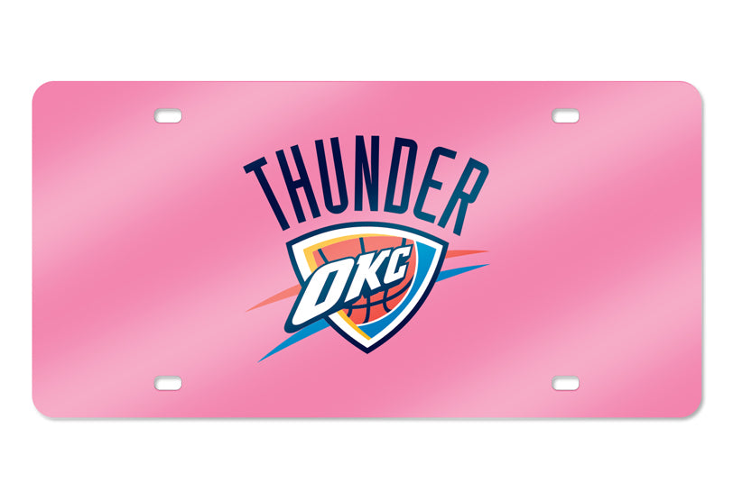 NBA Oklahoma City Thunder Laser License Plate Tag - Pink