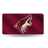 NHL Arizona Coyotes Laser License Plate Tag - Red