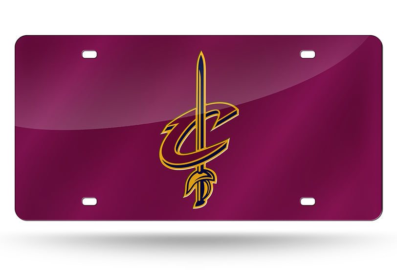 NBA Cleveland Cavaliers Laser License Plate Tag - Red