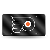 NHL Philadelphia Flyers Laser License Plate Tag - Black