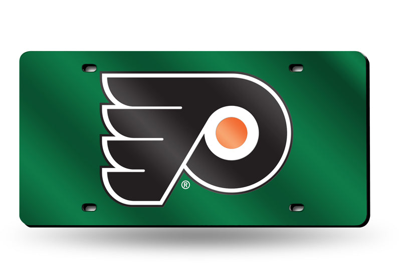 NHL Philadelphia Flyers Laser License Plate Tag - Green