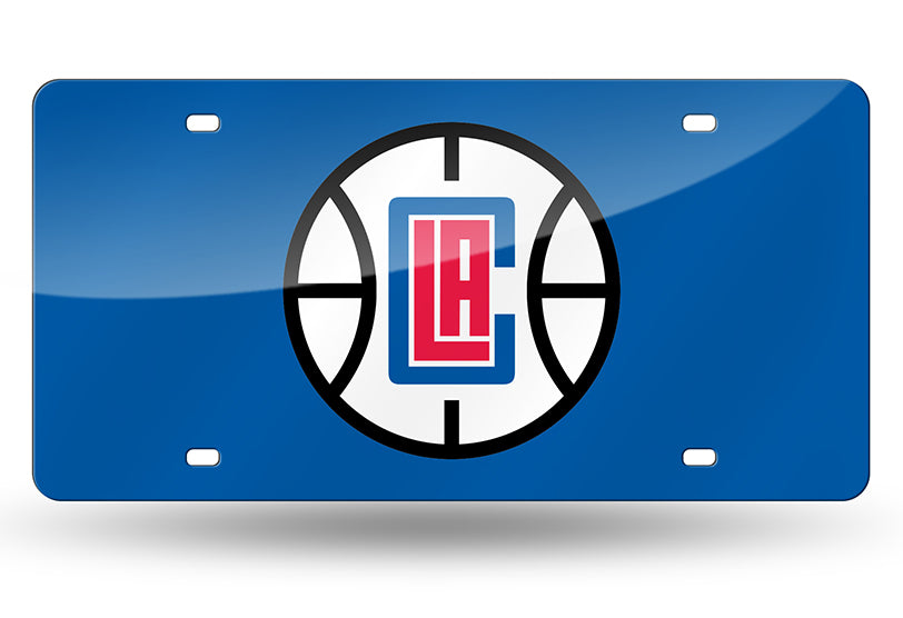 NBA Los Angeles Clippers Laser License Plate Tag - Blue