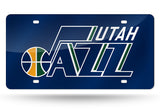 NBA Utah Jazz Laser License Plate Tag - Blue