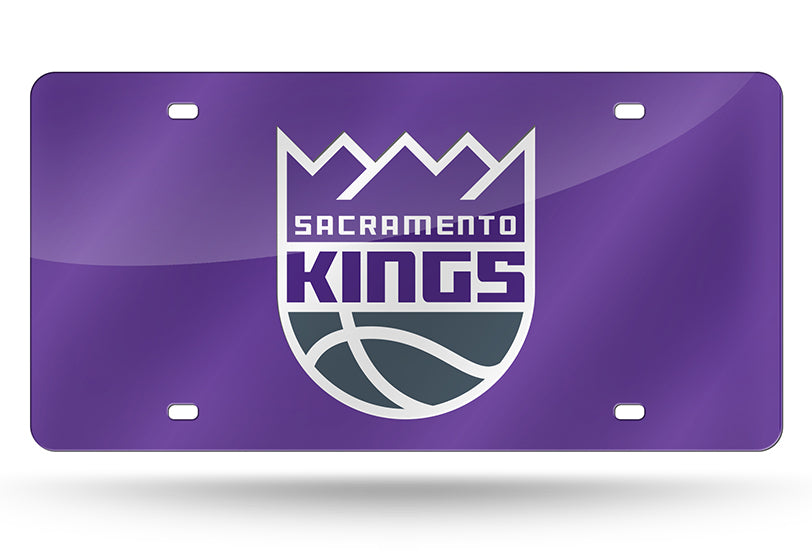 NBA Sacramento Kings Laser License Plate Tag - Purple