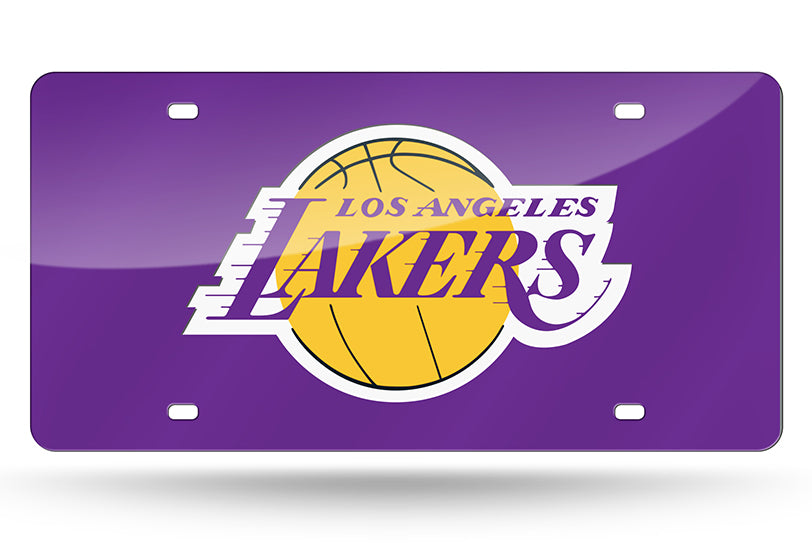 NBA Los Angeles Lakers Laser License Plate Tag - Purple