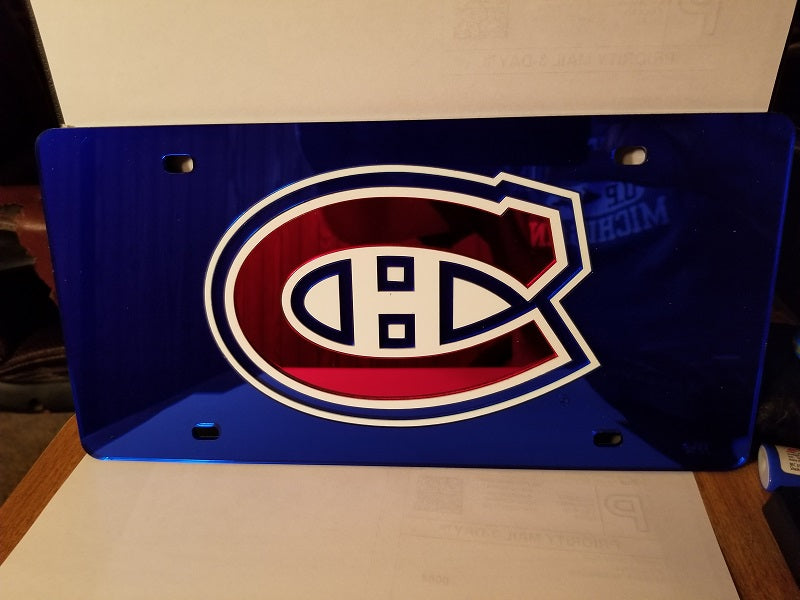 NHL Montreal Canadiens Laser License Plate Tag - Blue