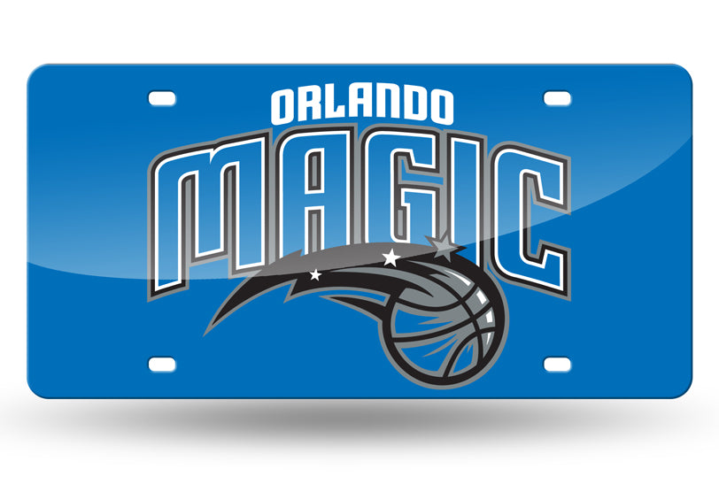 NBA Orlando Magic Laser License Plate Tag - Blue