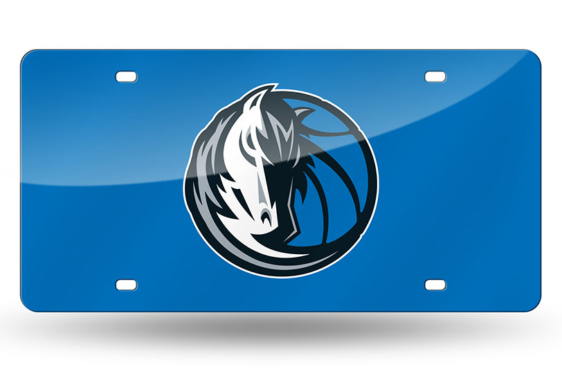 NBA Dallas Mavericks Laser License Plate Tag - Blue