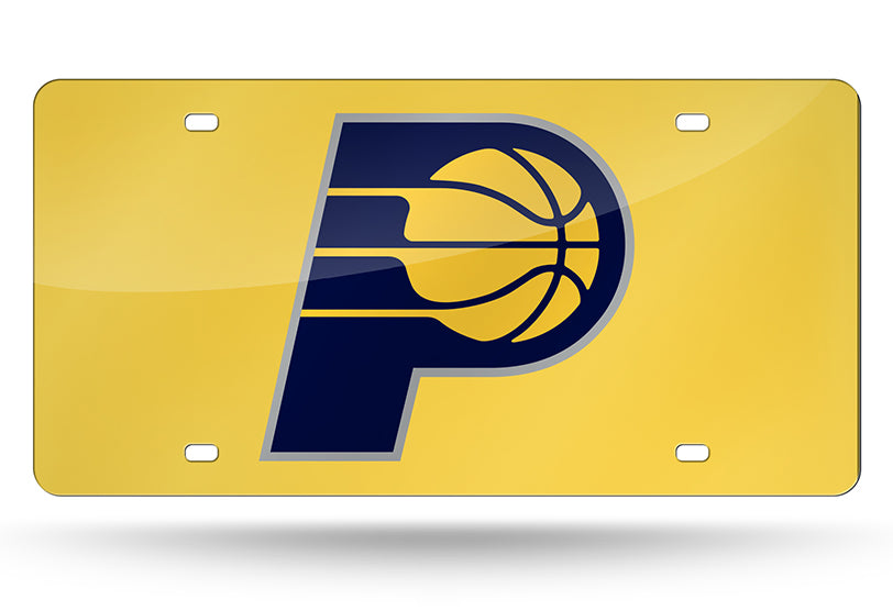 NBA Indiana Pacers Laser License Plate Tag - Yellow