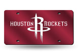 NBA Houston Rockets Laser License Plate Tag - Red