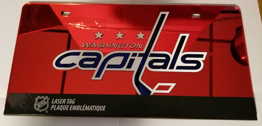 NHL Washington Capitals Laser License Plate Tag - Red
