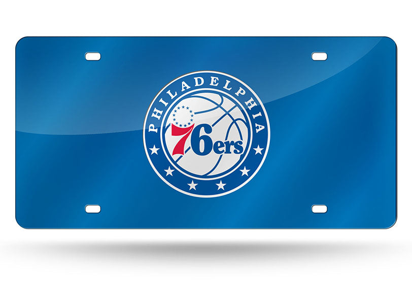 NBA Philadelphia 76ers Laser License Plate Tag - Blue