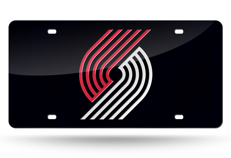NBA Portland Trail Blazers Laser License Plate Tag - Black
