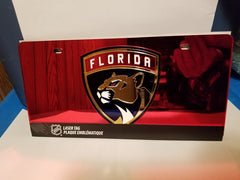 NHL Florida Panthers Laser License Plate Tag - Red