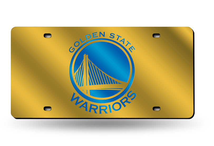 NBA Golden State Warriors Laser License Plate Tag - Yellow