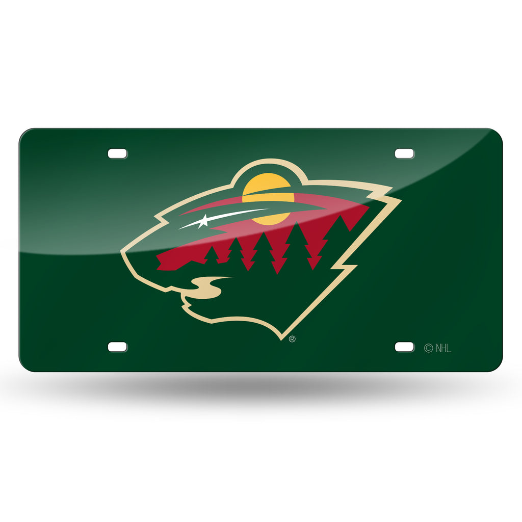 NHL Minnesota Wild Laser License Plate Tag - Green