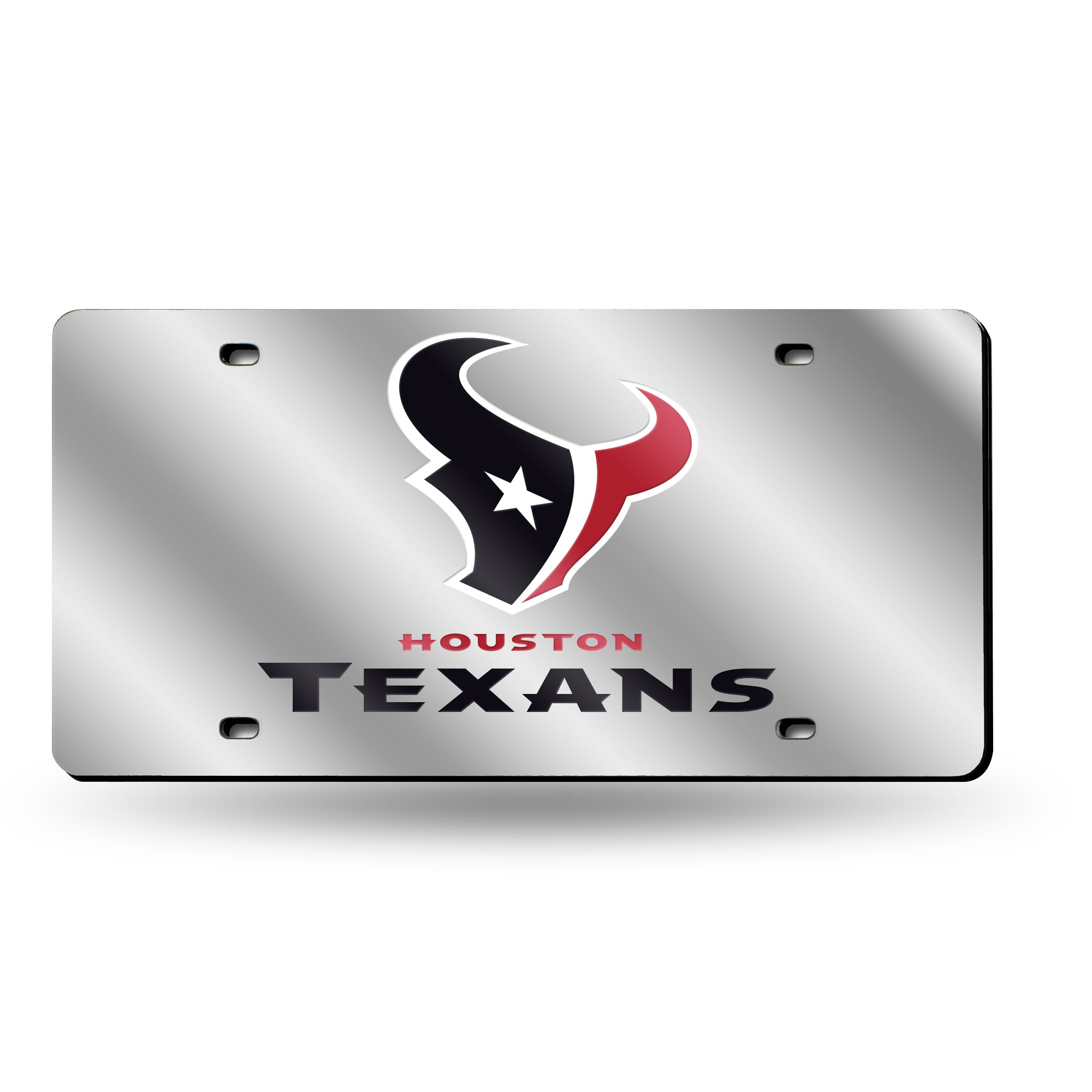 NFL Houston Texans Laser License Plate Tag - Silver
