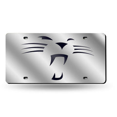 "NFL Carolina Panthers ""Whiskers"" Laser License Plate Tag - Silver"