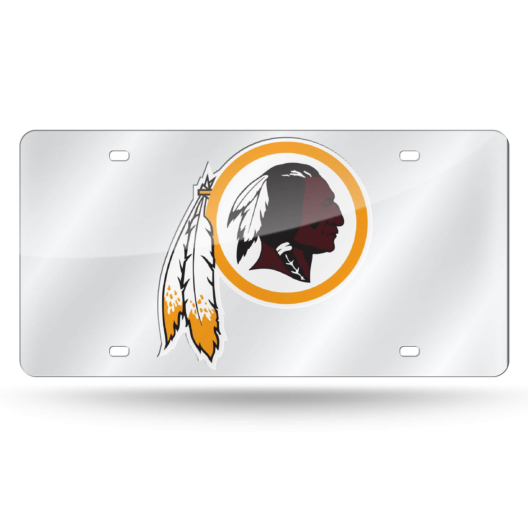 NFL Washington Redskins Laser License Plate Tag - Silver