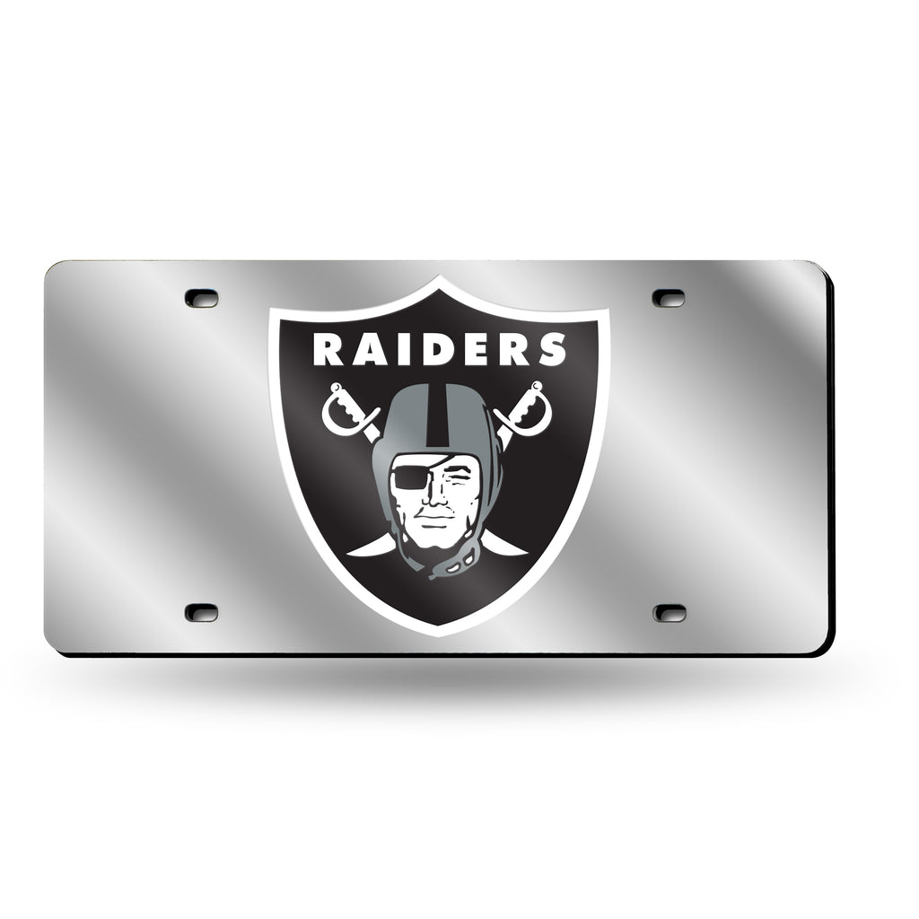 NFL Oakland Raiders Laser License Plate Tag - Silver