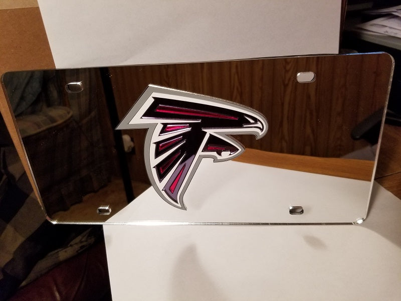NFL Atlanta Falcons Laser License Plate Tag - Silver