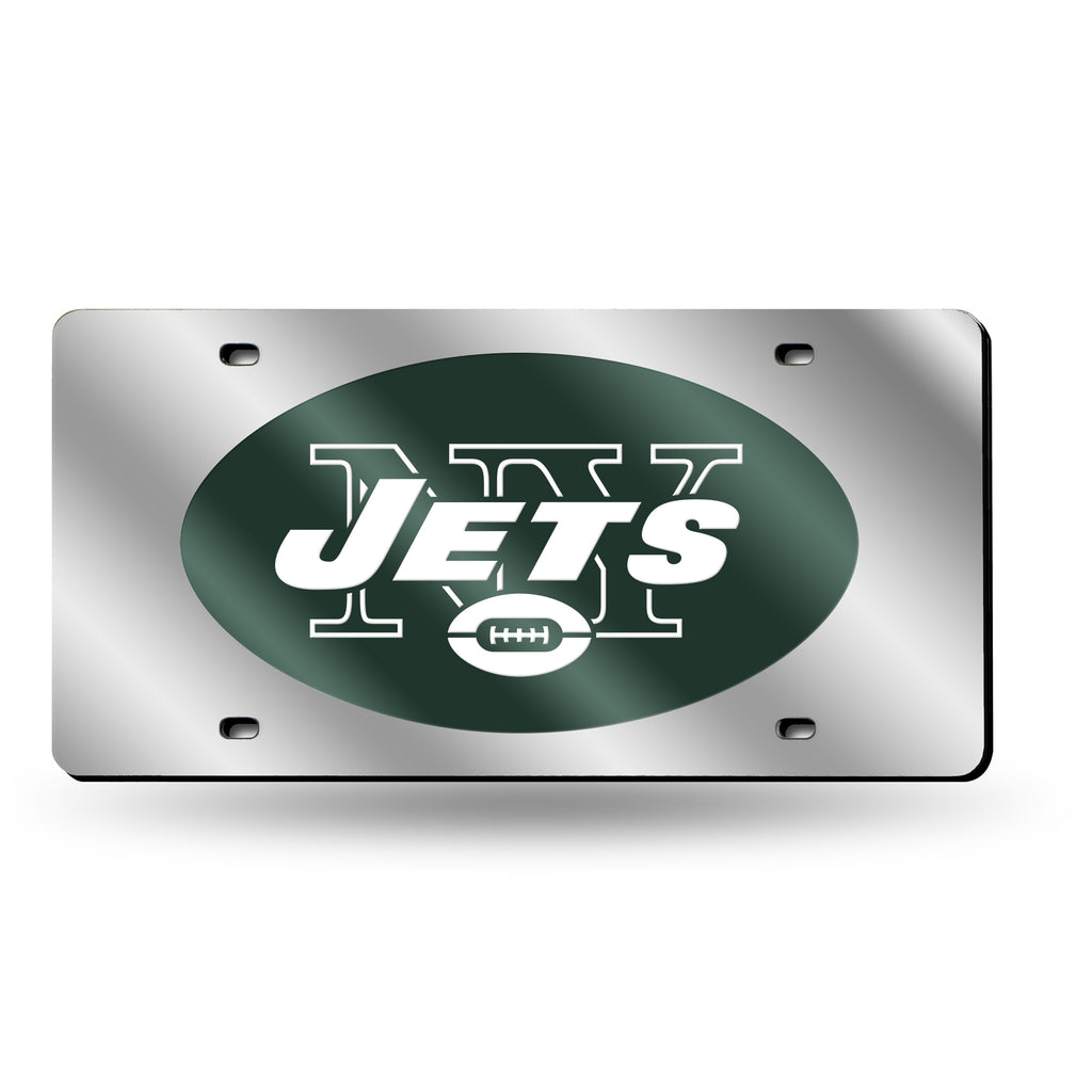 NFL New York Jets Laser License Plate Tag - Silver